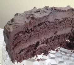 "Low Carb, Gluten Free ""S"" Ooey Gooey Chocolate Cake. THM friendly!"