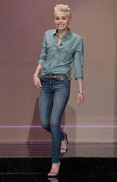 love her style! SAINT LAURENT
