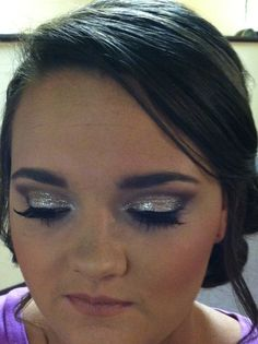Prom makeup with Glitter!