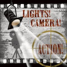 Pro Tour Memorabilia Lights Camera Action A Framed Art - - Framed Art - Wall Art & Coverings - Decor Wall Art Sets, Framed Wall Art, Framed Art Prints, Fine Art Prints, Lights Camera Action, Light Camera, At Home Movie Theater, Movie Themes, Cinema Film