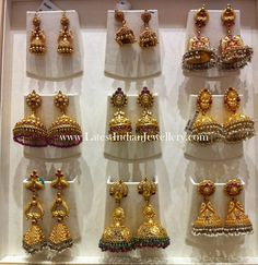 Latest Gold Jhumkas Earrings Collection