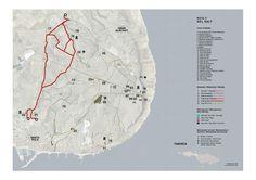 Mapa Ruta 5 del Salt Santa Pola Ruta de Senderismo por la Sierra de Santa Pola. Distancia aproximada de 4,5 km.