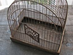 vintage wire birdcage : crown by 24pont on Etsy, $85.00