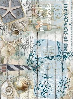 I finally learned how to decoupage paper using Mod Podge WITHOUT the paper bubbling and wrinkling. Decoupage Vintage, Vintage Diy, Vintage Paper, Vintage Images, Beach Crafts, Diy And Crafts, Paper Crafts, Etiquette Vintage, Rice Paper