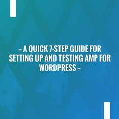 Fingers crossed but I'm hoping you'll love this: A quick 7-step guide for setting up and testing AMP for WordPress http://abdullahalghadouni.com/2017/06/19/a-quick-7-step-guide-for-setting-up-and-testing-amp-for-wordpress/?utm_campaign=crowdfire&utm_content=crowdfire&utm_medium=social&utm_source=pinterest