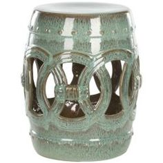 Safavieh Paradise Double Coin Blue Ceramic Garden Stool- this is really nice too...if you get this one, I'd get two matching ones.