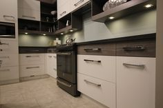 Home - Pioneer Cabinetry Example Of Contrast, Kitchen Display, Aging In Place, Kitchen Cabinets, New Homes, Showroom, Modern, Kitchen Ideas, Nice