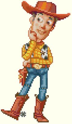 Woody Cross Stitch Pattern-Disney Toy Story por KeenahsCrossStitch