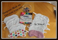 Perfect Sleepover party activity....  Sleep masks to meet all the lil needs... I can do them in super hero themes, colors or almost anything your lil heart desires....  $5.00 ea for plain, $7 for super hero on the back..  lets make a deal for multiple masks :-)