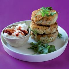 Taste Mag | Asian fish cakes with chilli mayonnaise @ http://taste.co.za/recipes/asian-fish-cakes-with-chilli-mayonnaise/