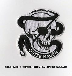 Video Game Merchandise Outer Haven Patch Hook And Loop Revolver Ocelot Cosplay Metal Gear Solid 4 Velcro Patches, Iron On Patches, Gamer Tattoos, Tatoos, Revolver Ocelot, Raven Logo, Metal Gear Rising, Gear Art, Diamond Dogs
