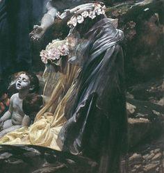 """"""" Die Seelen des Acheron, Detail. by Adolf Hirémy-Hirschl """""""
