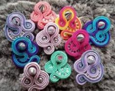 Earrings made entirely by hand with soutache by infinitifashion