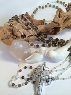 Wedding Lasso crafted in Faceted Smokey Quartz by JeLadoreBouquet