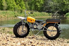 It's one of the weirdest motorcycles ever built, with Tonka Toy looks and two-wheel-drive. So join us for a closer look at the oddball Rokon Trail-Breaker. American Motorcycles, Cool Motorcycles, Tonka Toys, Old Tractors, Motor Scooters, Moto Guzzi, Dirtbikes, Mini Bike, Motorcycle Bike
