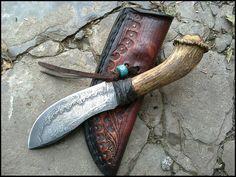 Home Made Knives, Old Hickory, Bushcraft Knives, Knife Handles, Knife Sheath, Handmade Knives, Cold Steel, Custom Knives, Knives And Swords