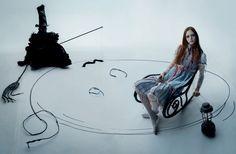 'Moomin Goth' Natalie Westling by Tim Walker for Love Magazine Spring/Summer 2018