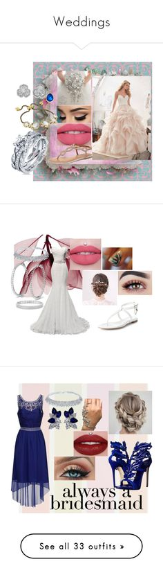 """Weddings"" by you-would-not-know on Polyvore featuring Dorothy Perkins, Ippolita, Kendra Scott, Carolee, BERRICLE, Alexander McQueen, Anne Sisteron, Giuseppe Zanotti, Fantasia and René Caovilla"