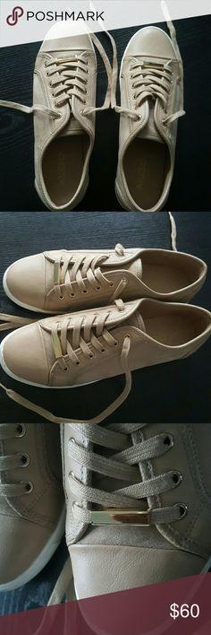 Aldo beige suede sneakers New Aldo beige suede sneakers. Worn once. Aldo Shoes Sneakers
