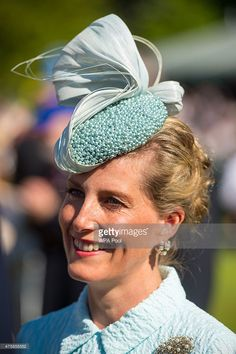 Sophie, Countess of Wessex, meets Blind veterans and guests at a garden party at Buckingham Palace on June 4, 2015 in London, England. The party, hosted by the Countess, was held to mark the 100th anniversary of Blind Veterans UK.  (Photo by Dominic Lipinski - WPA Pool/Getty Images)