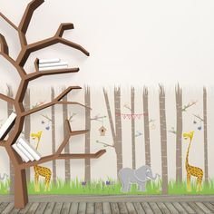 Forest walk! Walldecal to decorate children room.