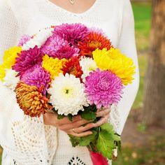 Brautstrauß mit Chrysanthemen