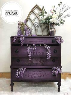 Purple Furniture, Funky Furniture, Upcycled Furniture, Shabby Chic Furniture, Furniture Makeover, Home Furniture, Furniture Design, Rustic Furniture, Antique Furniture