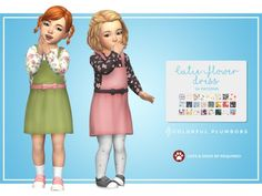 The Sims 4 Cutie flower dress by colorfulplumbobs