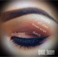 Eye shadows used, MAC, makeup