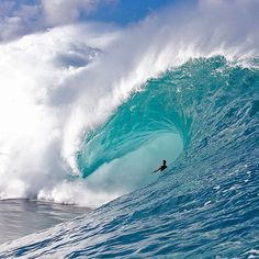 Today would have marked the 27th birthday of Ricardo Dos Santos. Ricardo is regarded as one of the best tube riders ever to walk this earth. His performance at the 2012 Teahupoo contest was one of the best breakthrough performances surfing has ever seen. So here's a commemorative image of Ricardo doing what he did best; making massive barrel rides look like a walk in the park. Photo: @fred_pompermayer #SURFERphotos #ripricardodossantos