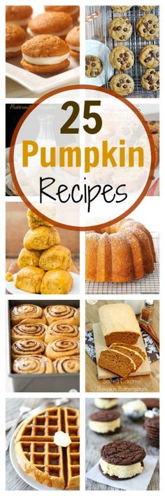 Fall Baking: 25 Pumpkin Recipes