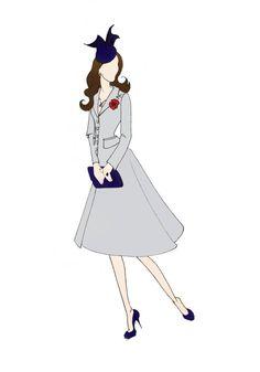 "Royal Tour Australia Duchess of Cambridge Kate Middleton Fashion Print 8.5""x11"" Michael Kors"