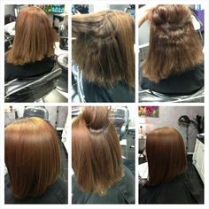 Before and after a Keratin treatment. Its gorgeous!  @Bre Vader Turner