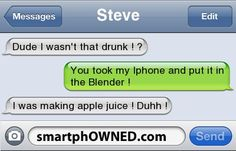 lol - - Autocorrect Fails and Funny Text Messages - SmartphOWNED Funny Drunk Text Messages, Funny Drunk Texts, Cute Text Messages, Text Jokes, Funny Texts Crush, Funny Text Fails, Drunk Humor, Stupid Funny Memes, Funny Relatable Memes
