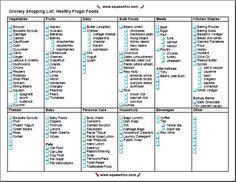 Printable Grocery Shopping List