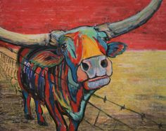 Cactus Jack the Texas Longhorn by leicalady on Etsy, $125.00