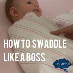 Many newborns only sleep well when swaddled, but swaddling is harder than it looks when you have a wiggly newborn. Watch my step by step demonstration on how to swaddle your baby in a blanket with her arms in.