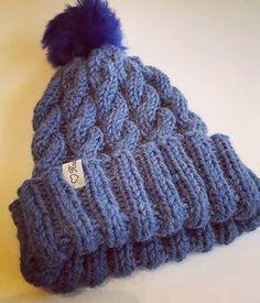 Lankasataman BLOGI: Helppo palmikkopipo + ohje Knitting Patterns, Knitting Ideas, Knitted Hats, Knit Crochet, Winter Hats, Tutorials, Fashion, Moda, Knit Patterns