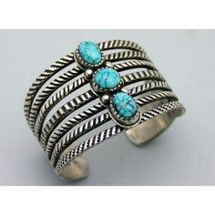 Navajo ERNIE LISTER Turquoise Sterling Silver Bracelet  $1,850.00