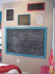 I would like to do this in the boys rooms. I like the large one framed out..especially in the nook in Noah's room. I have the paint..just need to do it!
