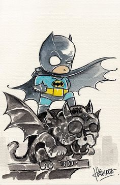 Baby Batman Art Print by Ferry Ickhwano
