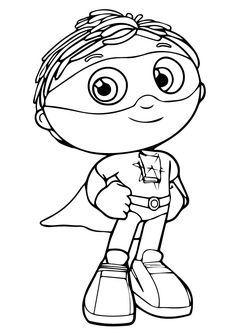 It is a graphic of Accomplished Super Why Coloring Book