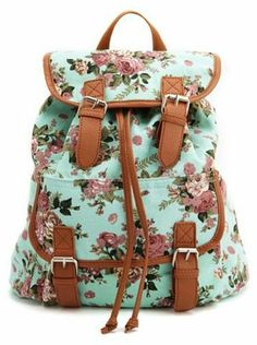 Charlotte Russe Floral Canvas Backpack on shopstyle.com