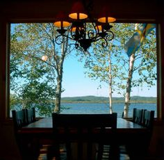 Romanitic Retreats Michigan, View from Dining Room