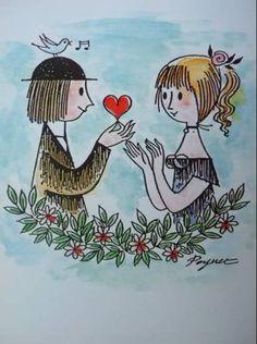 RAYMOND PEYNET : Les Amoureux de Peynet et leur carte du tendre (que j'avais repris pour le plan de table de mon mariage!!)