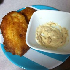 Homemade beer battered fish with homemade mayo dip...YUM!!!