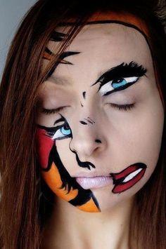 abstract makeup #abstract #makeup #creativemakeup - bellashoot.com #Fantasymakeup