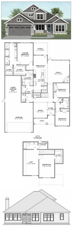 Plan SC3112: 4 bedroom 3.5 bath home with 3112 heated square feet. This plan along with many others is available for purchase online at stevecoxinc.net - All plans are available now, please contact us for more information.