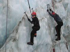 Ice Climbing on the Fox Glacier NZ