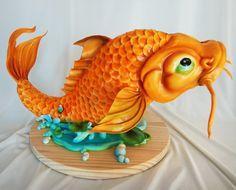 koi fish cake by #mikeelder
